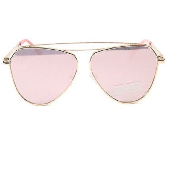 03625b3f2c NWT Tahari Rose Gold Pink Aviator Sunglasses